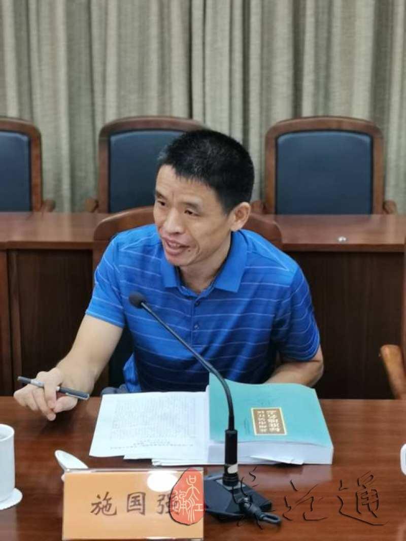 3.2021年9月9日,吴江区档案馆馆长、地方志办公室主任施国强在评审会上讲话 (2).jpg